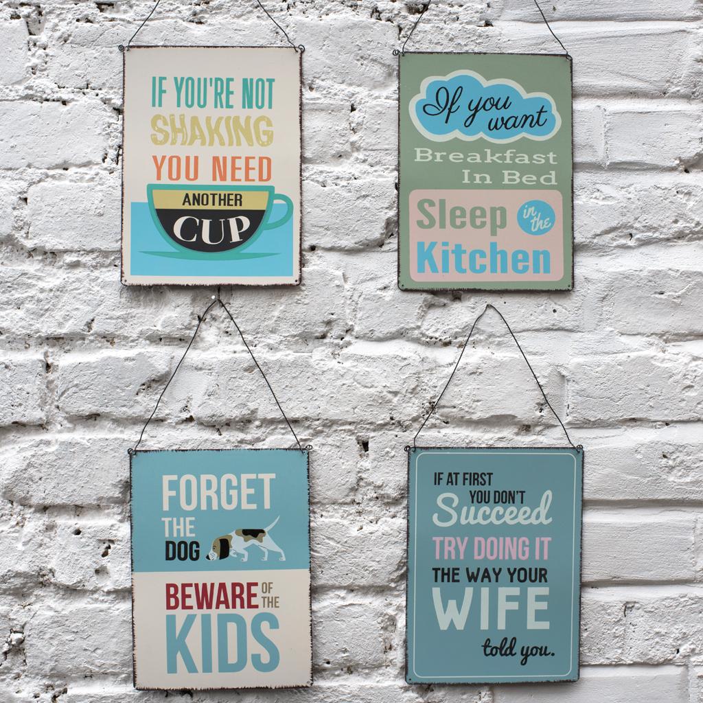 Metal Kitchen Wall Signs - Kitchen Ideas
