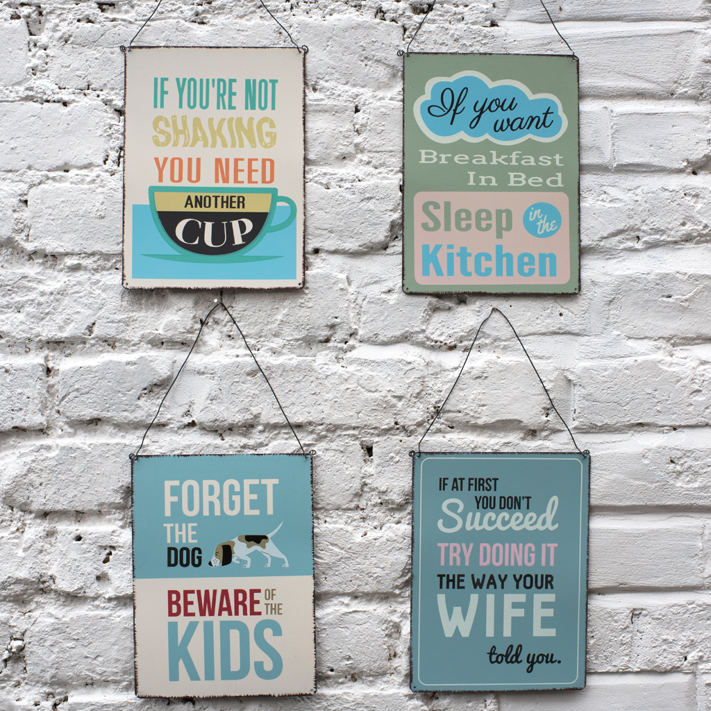 Metal Wall Signs If You Want Breakfast In Bed Metal Sign  Rex London At Dotcomgiftshop