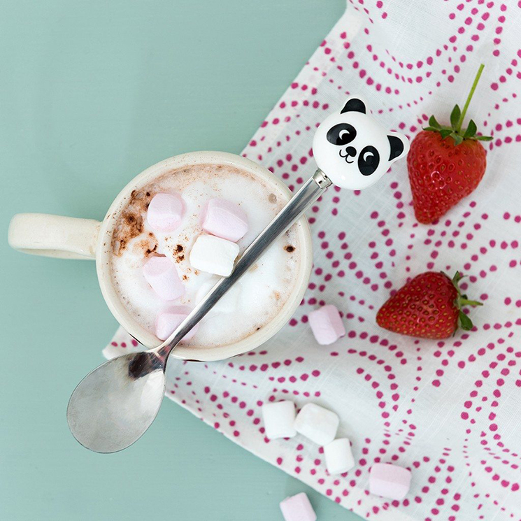 Miko the Panda hot chocolate spoon