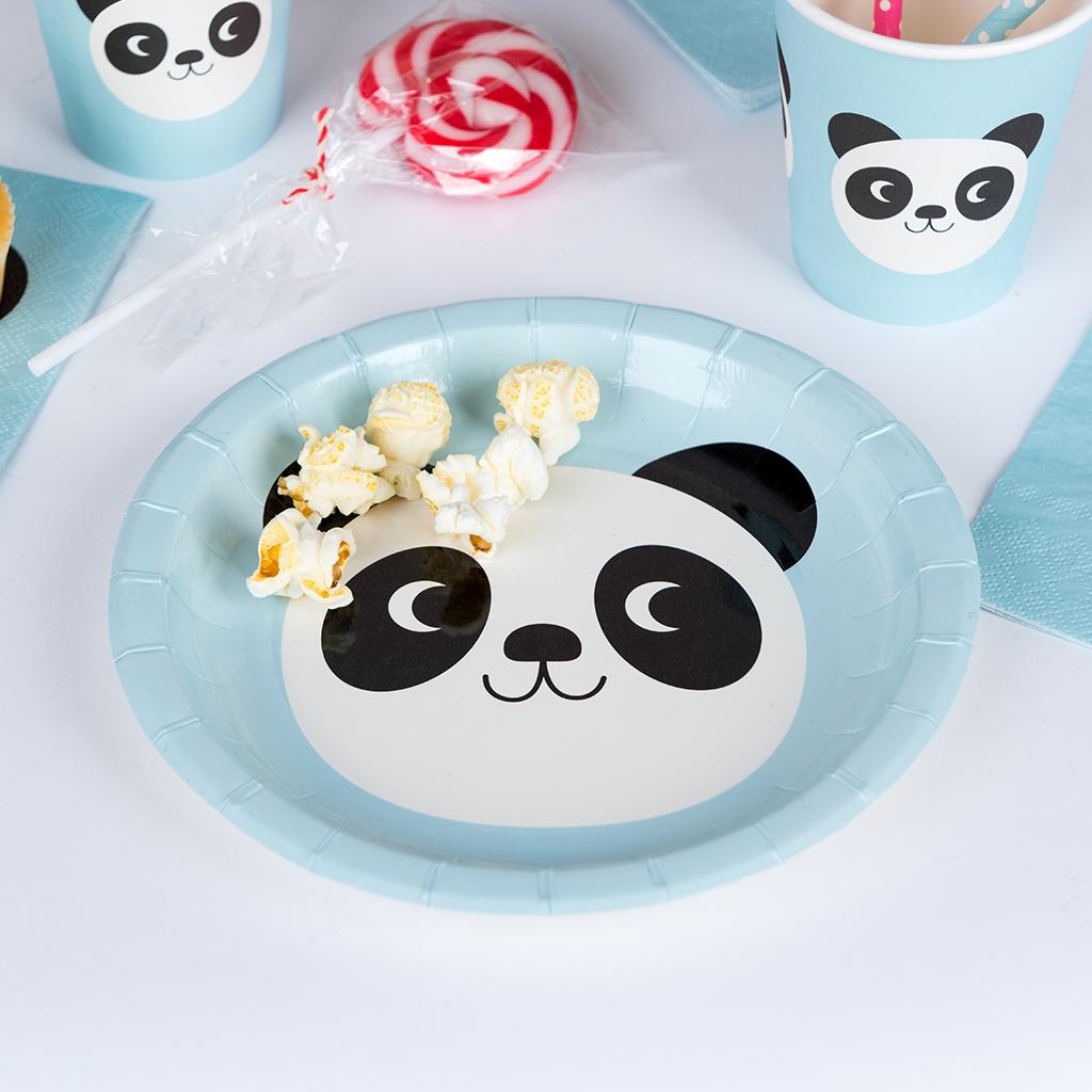 Miko The Panda Paper Plates (set Of 8) & Miko The Panda Paper Plates (set Of 8) | Rex London (dotcomgiftshop)