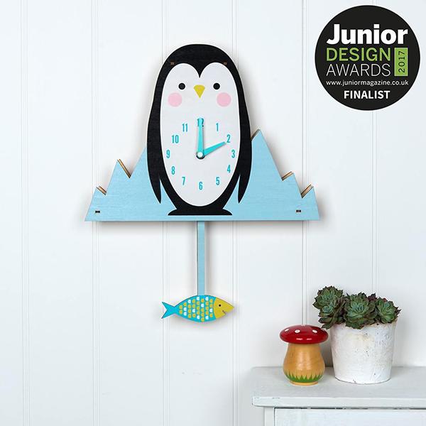 Horloge Milo The Penguin - Finaliste aux Junior Design Awards