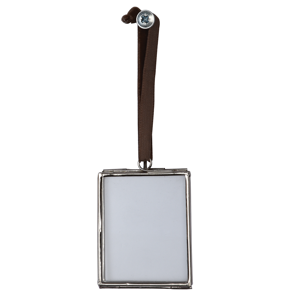 Glass Hanging Frame In Silver 5.5x4.5cm | Rex London (dotcomgiftshop)