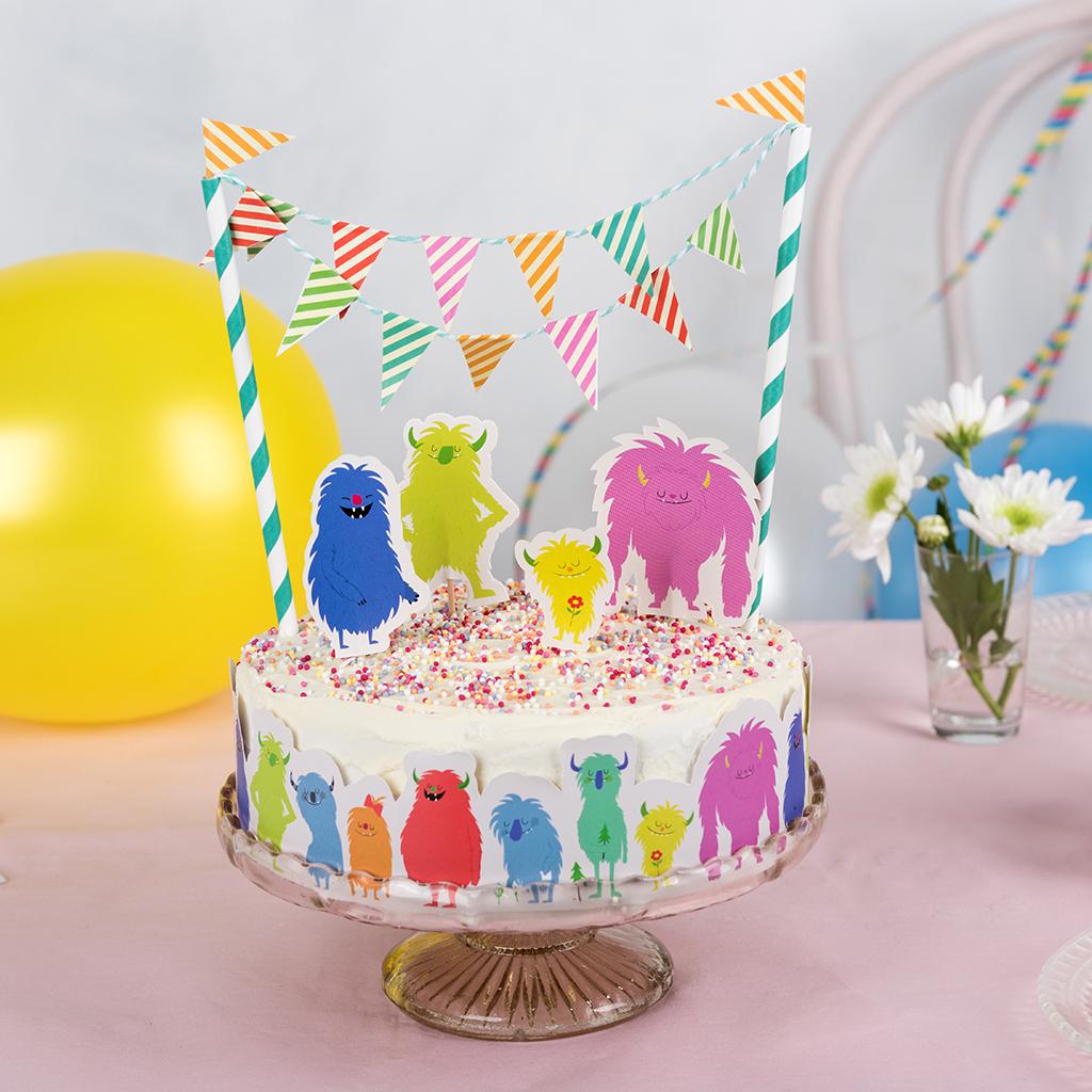 Sensational Monsters Of The World Cake Bunting Kit Rex London Dotcom Tshop Personalised Birthday Cards Paralily Jamesorg