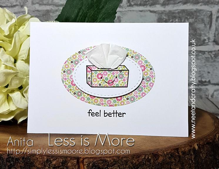 'feel better' homemade greetings card design