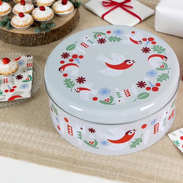 Nordic Christmas cake tin