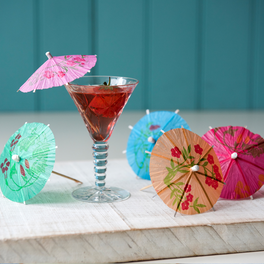 Pack Of 24 Assorted Cocktail Umbrellas Rex London At