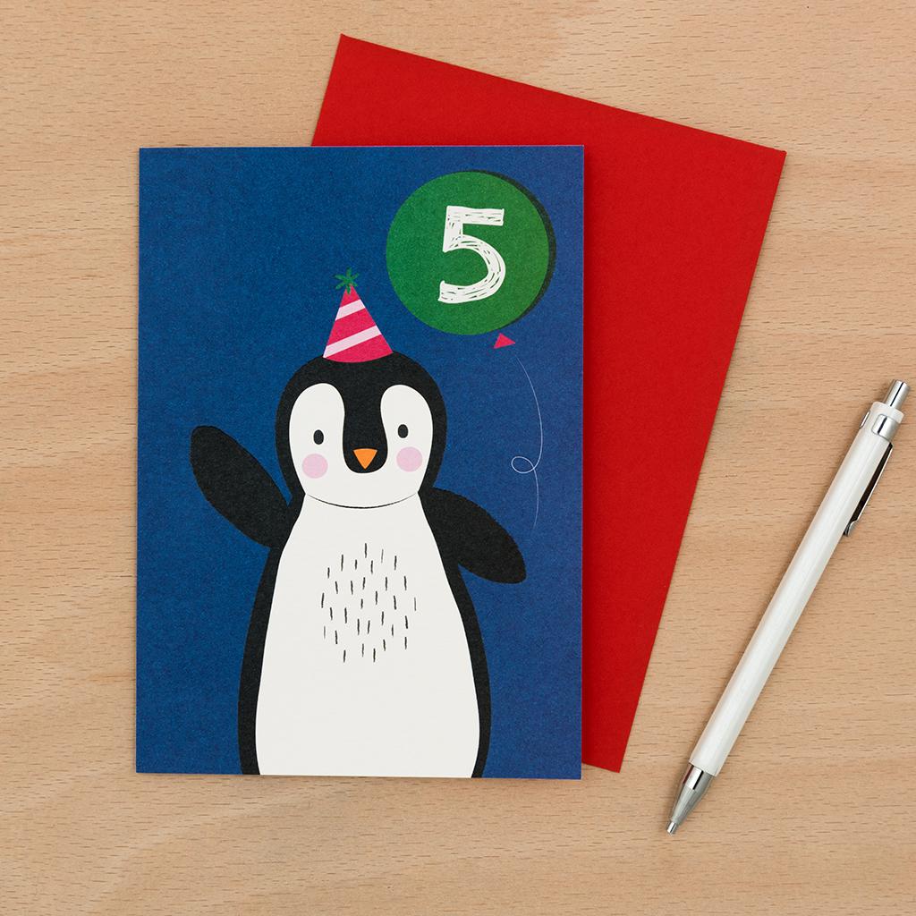 Geburtstagskarte Pinguin 5 Geburtstag Rex London Ehemals