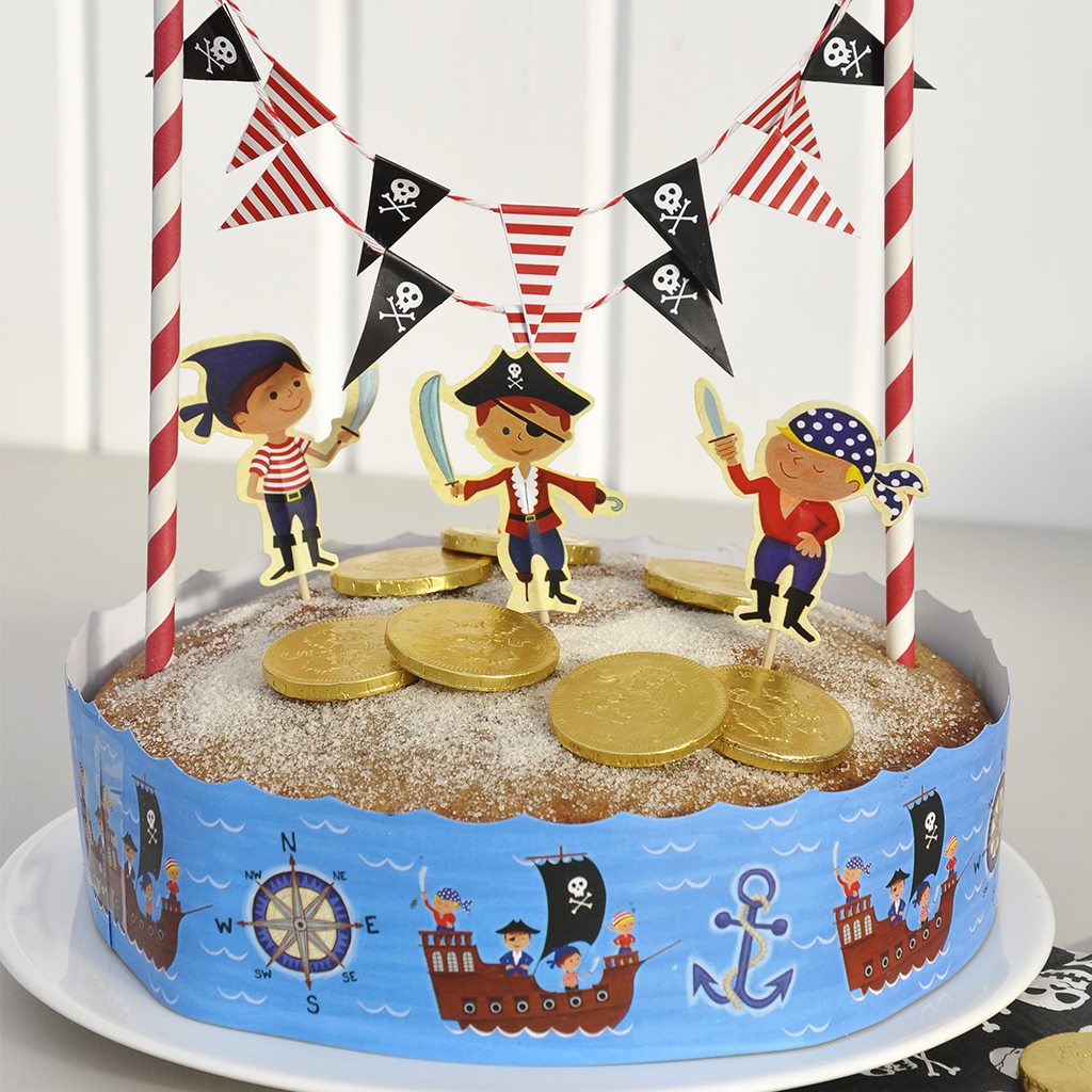 pirate fun cake bunting set rex london at dotcomgiftshop. Black Bedroom Furniture Sets. Home Design Ideas