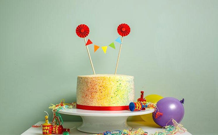 rainbow speckle cake