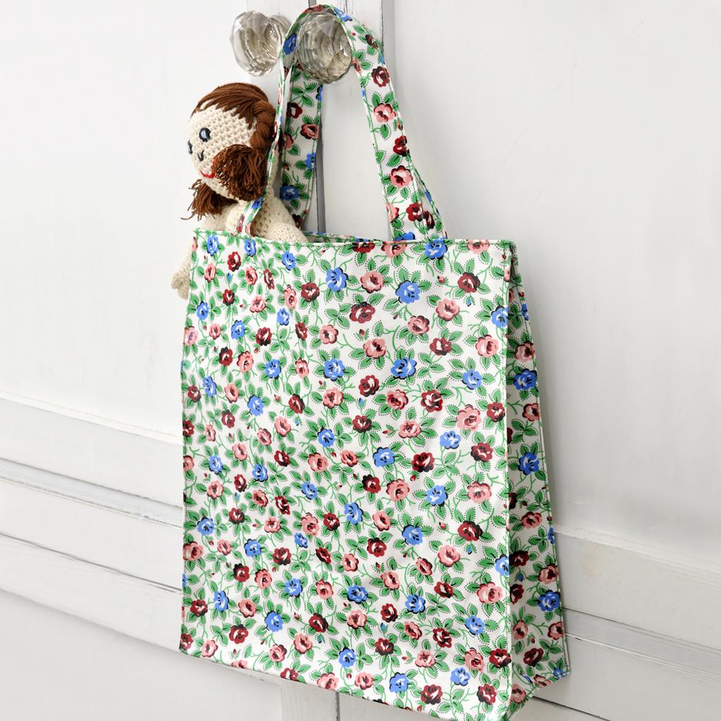 Rambling Rose Oilcloth Ping Bag
