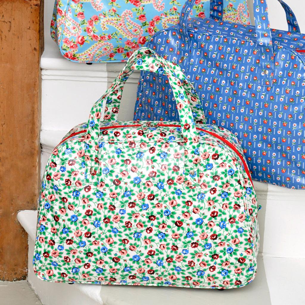 cc133796eac Rambling Rose Oilcloth Weekend Bag