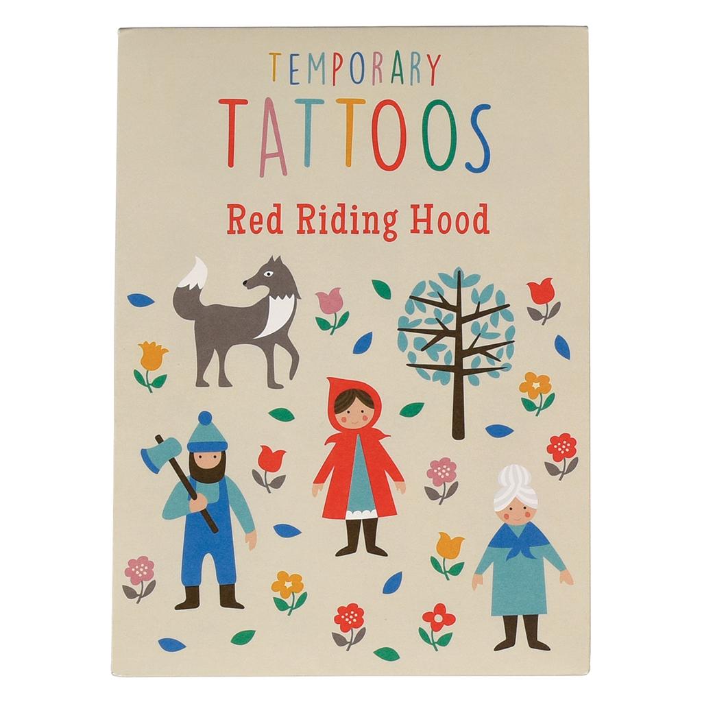 Red Riding Hood Temporary Tattoos | Rex London (dotcomgiftshop)