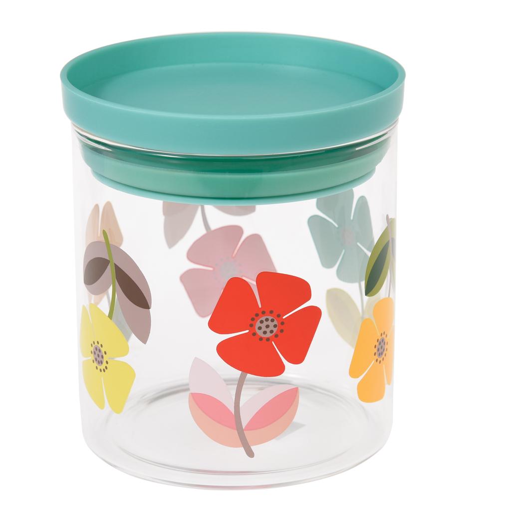 Retro Kitchen Storage Jars Mid Century Poppy Glass Storage Jar Dotcomgiftshop