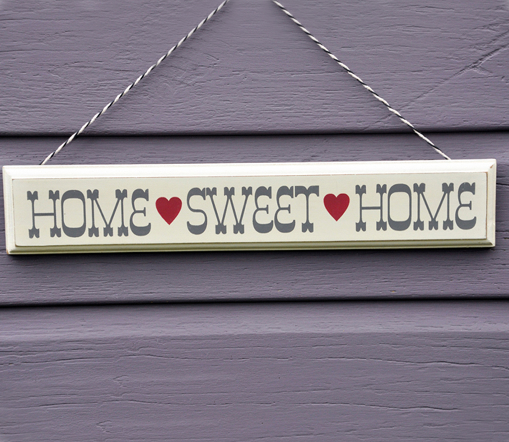 Rustic Wooden Home Sweet Sign