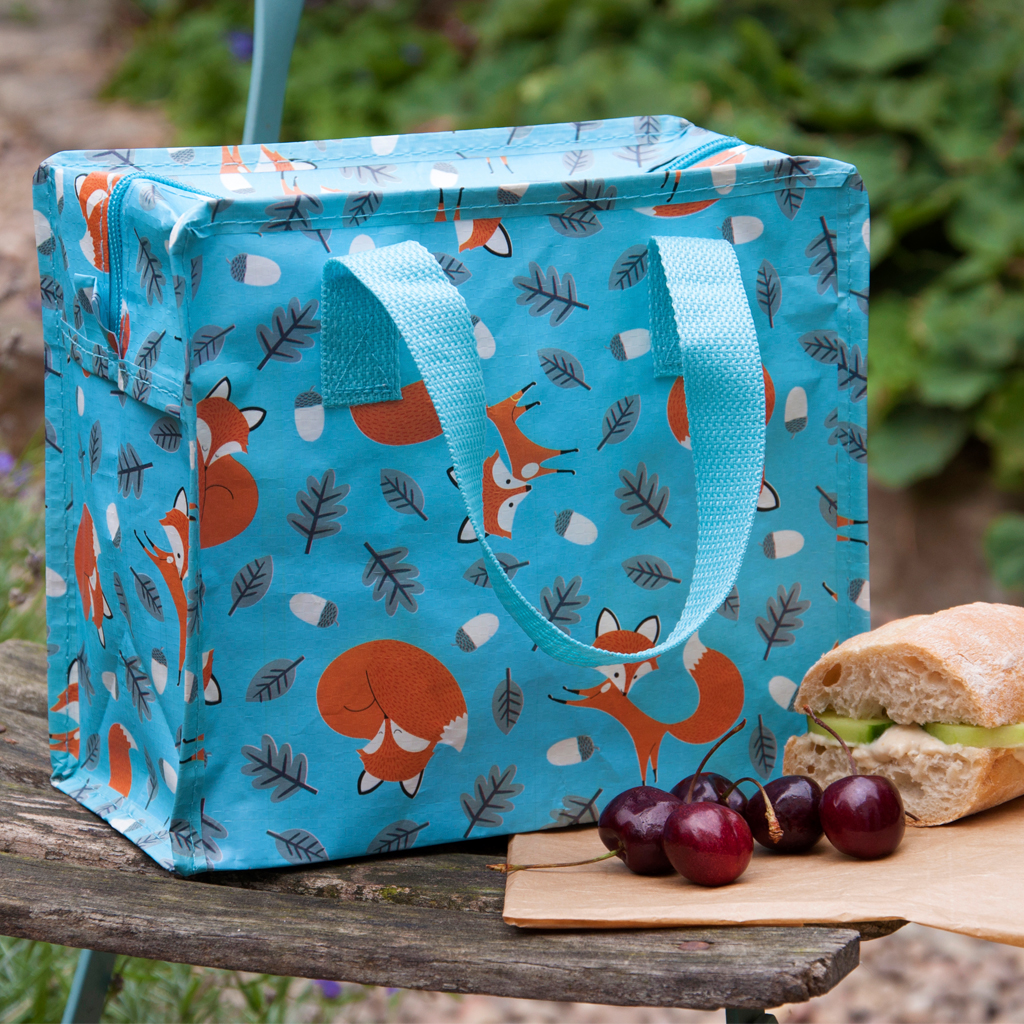 Vintage Reusable Shopping Bag Recycled Tote Shoulder Handbag Large h40xw35xd18cm