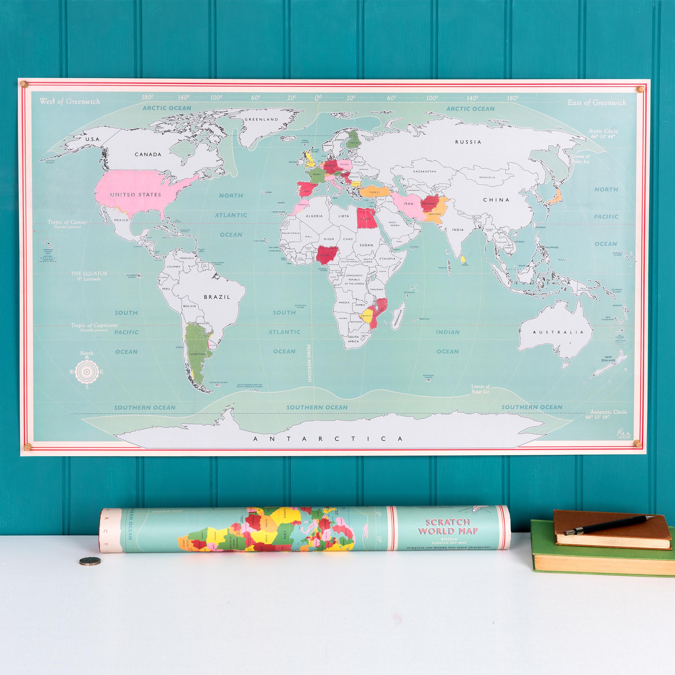 Scratch World Map Rex London Dotcomgiftshop