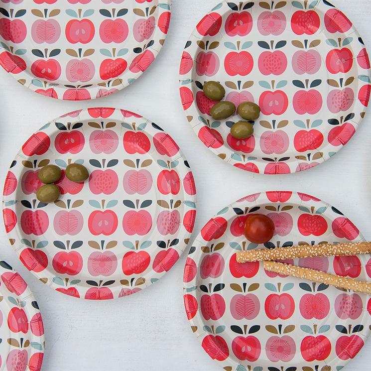 Vintage Apple paper plates