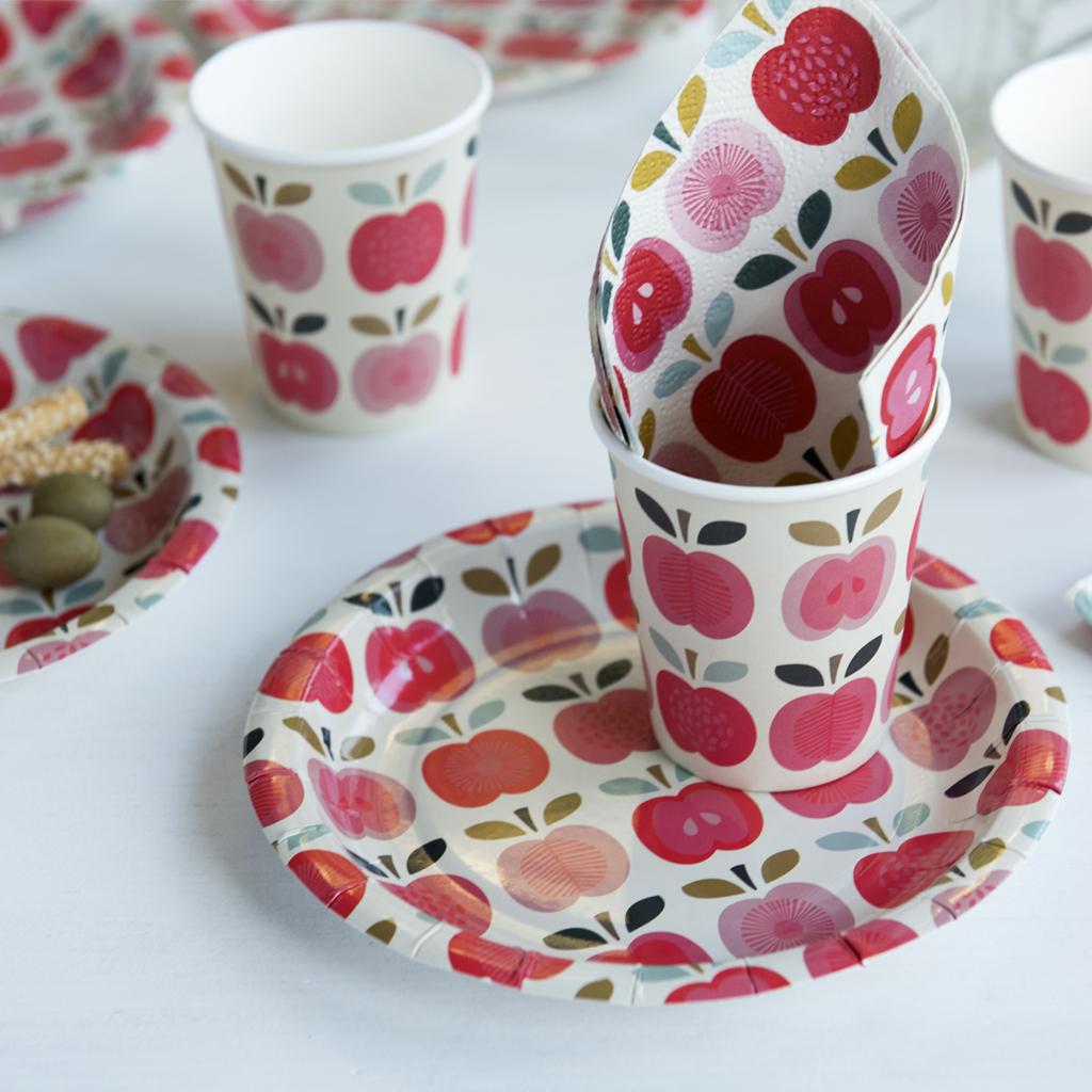 Vintage Apple Paper Cups. Vintage Apple & Vintage Apple Paper Cups (set Of 8)   Rex London (dotcomgiftshop)