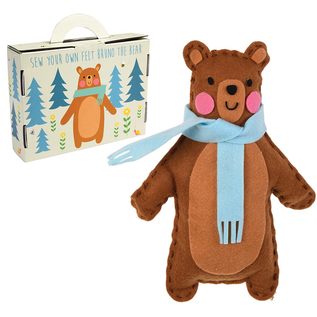 Bruno The Bear Felt Kit Rex London Dotcomgiftshop