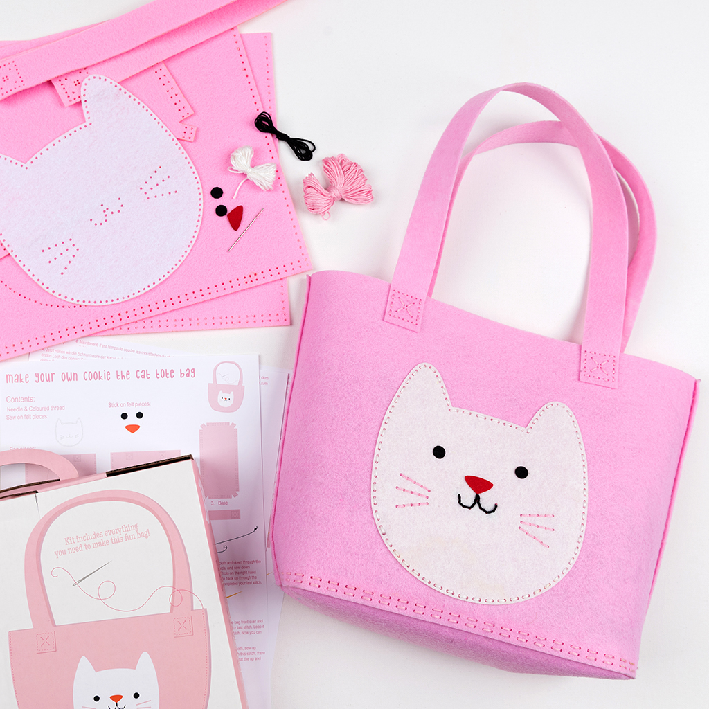 d4543306ac09 Sew Your Own Cookie The Cat Tote Bag