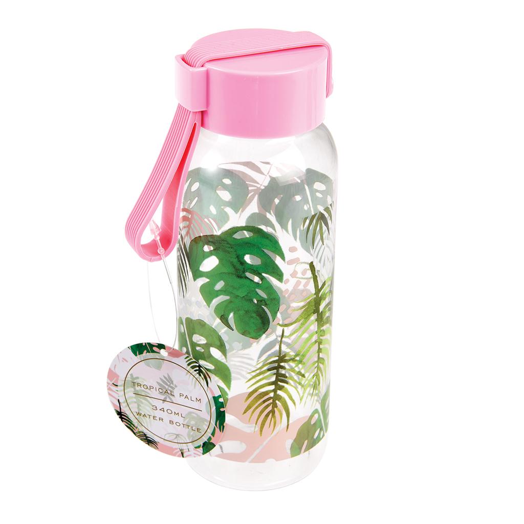 Small Tropical Palm Water Bottle Rex London Dotcomgiftshop