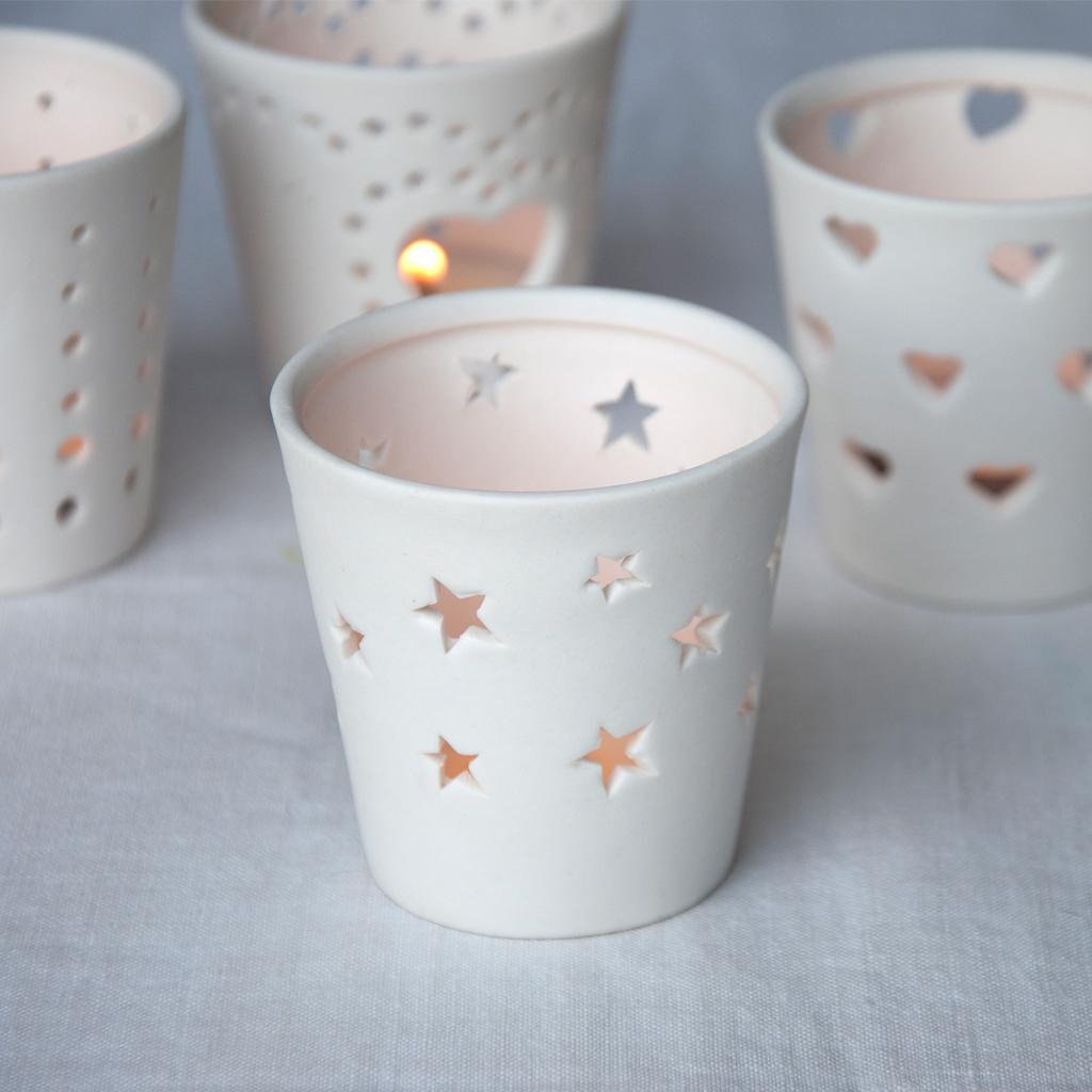 Stars Ceramic Tealight Holder Rex London At Dotcomgiftshop
