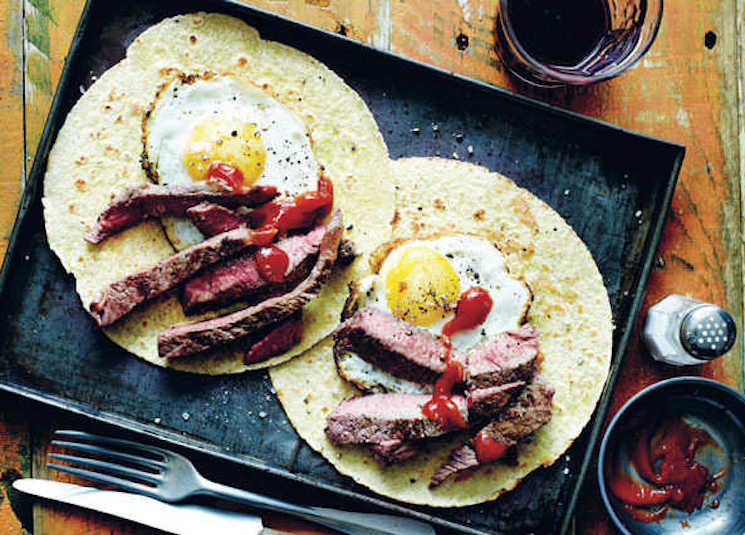 steak and egg tacos