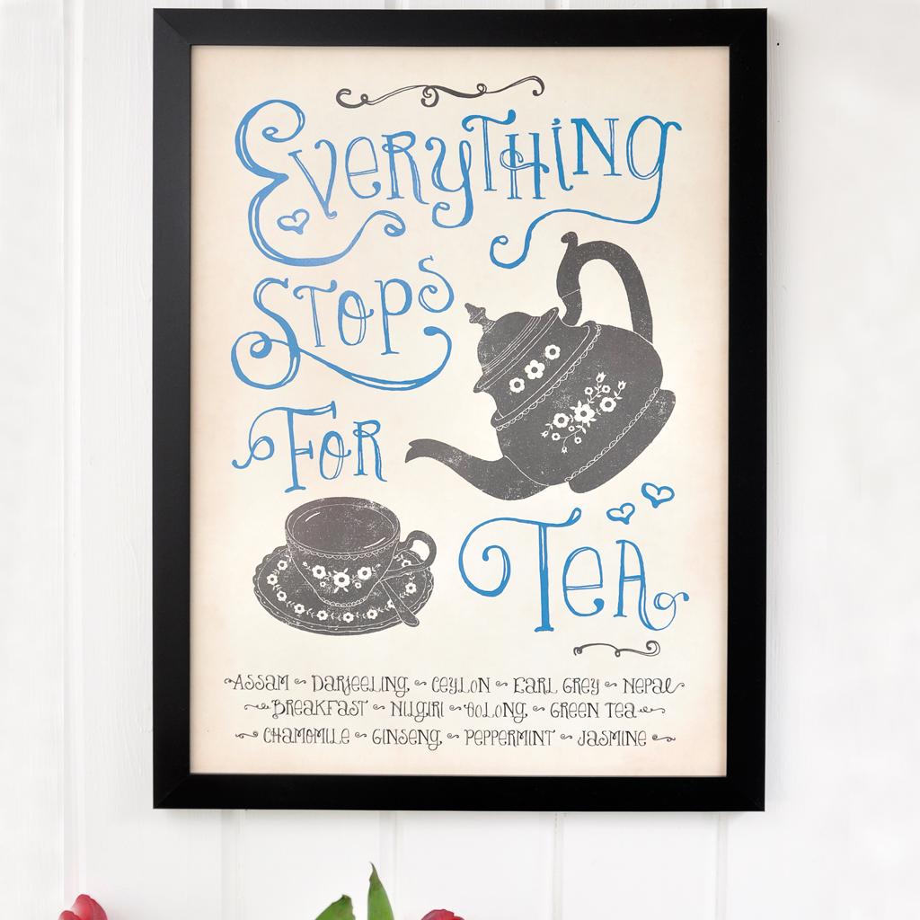 Stop for tea framed wall art rex london dotcomgiftshop stop for tea framed wall art jeuxipadfo Choice Image