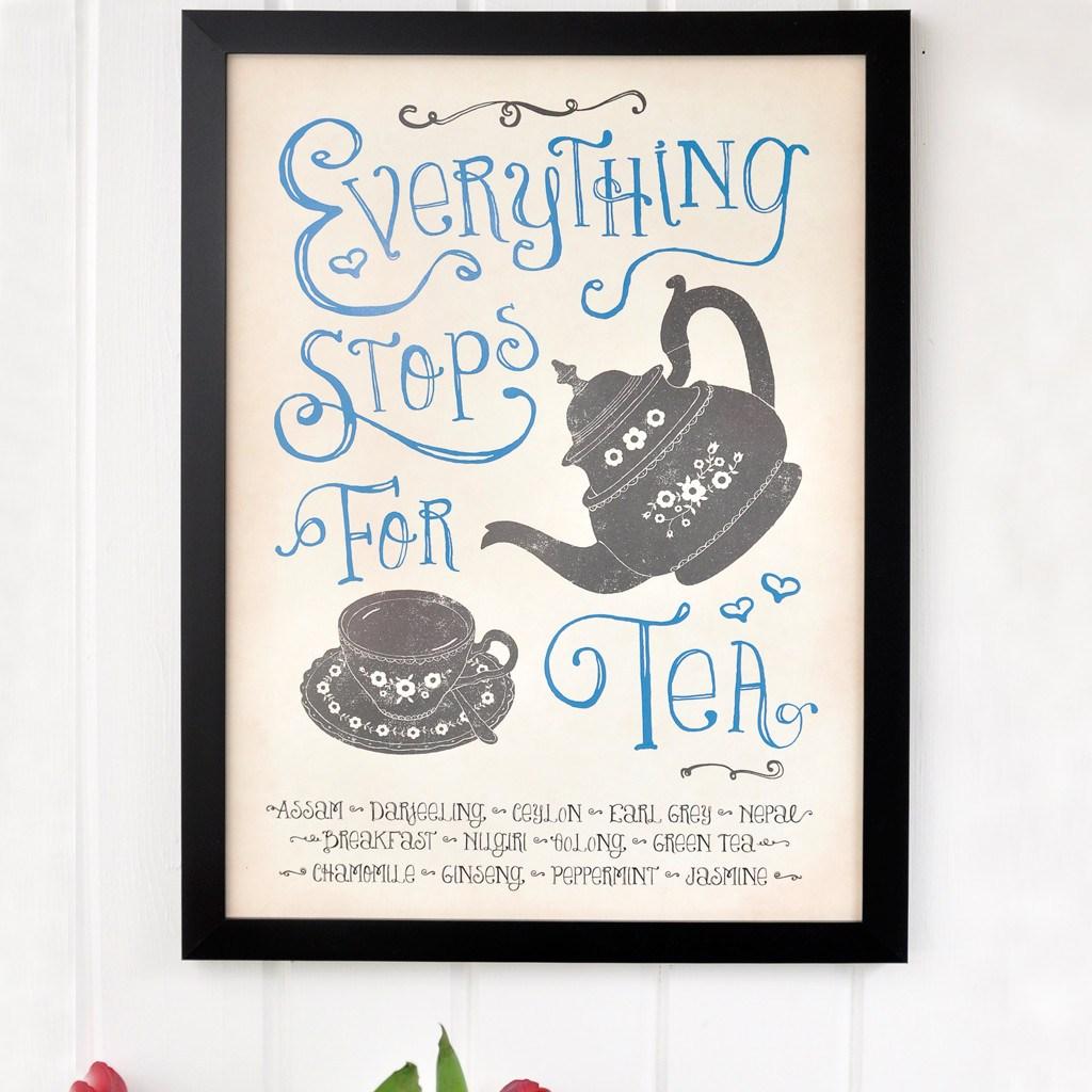 Stop for Tea framed wall art