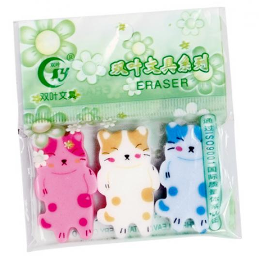 Sleeping Cat Erasers