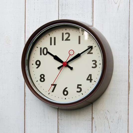 Retro Brown Metal Wall Clock