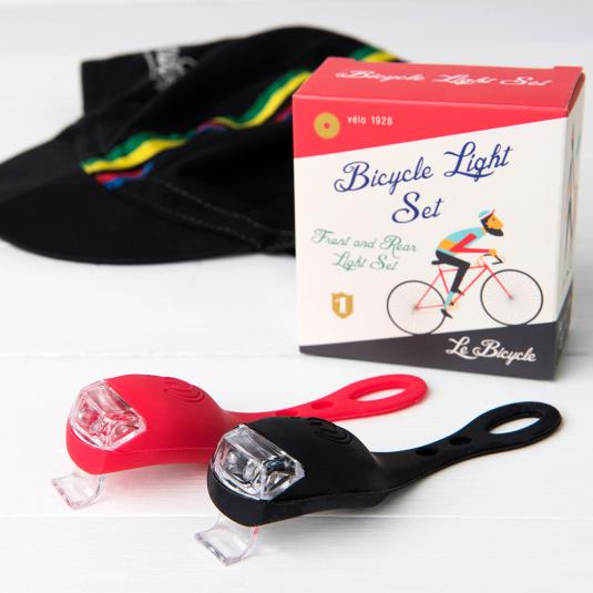 Set of Bike Lights in Le Bicycle Design Gift Box