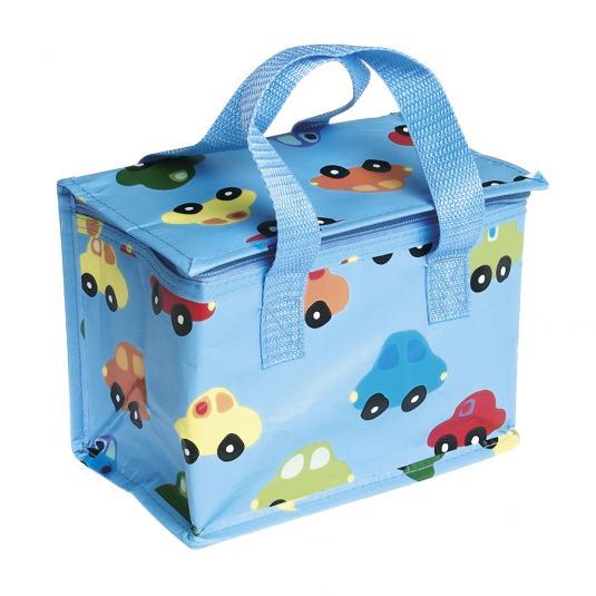 Kids Cars Design Blue Lunch Bag