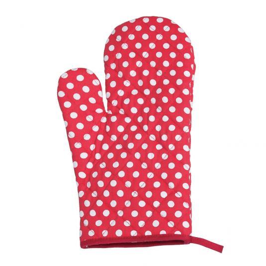 Red Retrospot Oven Glove