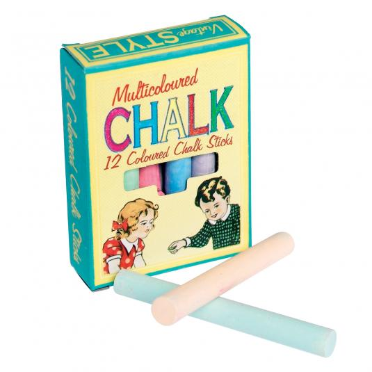 Set Of 12 Colour Chalk Sticks