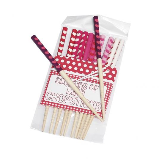 Set Of 6 Heart Chopsticks