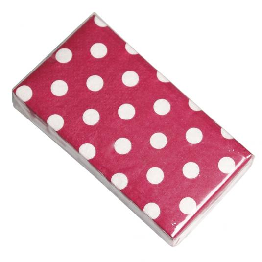 Pack Of 12 Red Retro spot Tissues