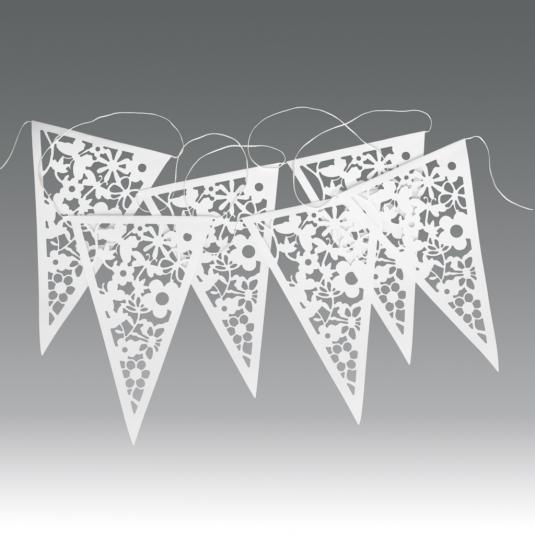 Paper Bunting White Lace
