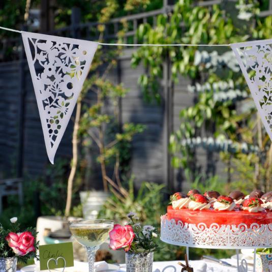 White Wedding Bunting