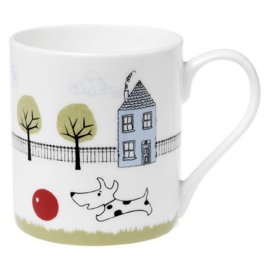Coffee Mug Dog + Ball Design