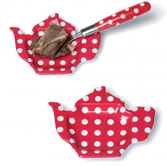 Tea Bag Plate Red Retrospot