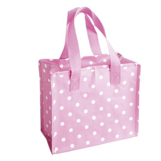 Pink Polkadot Design Charlotte Bag