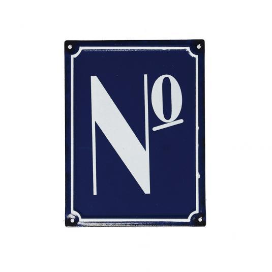 No French Blue Metal Door Sign