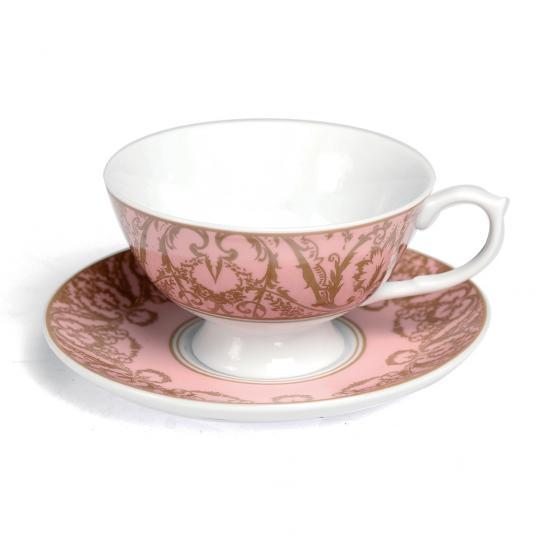 Pink Regency Teacup And Saucer