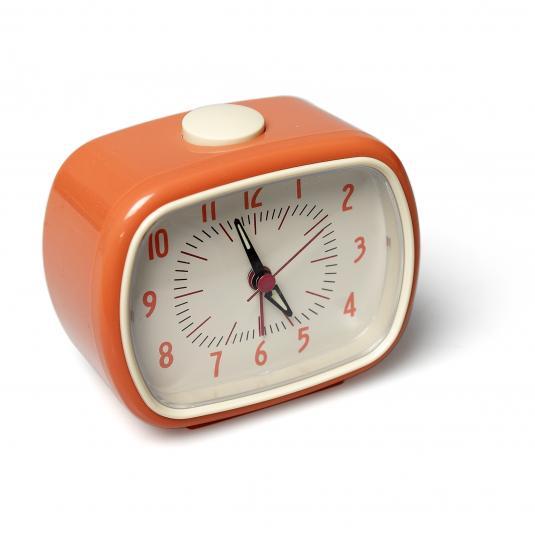 Alarm Clock Bakelite Orange