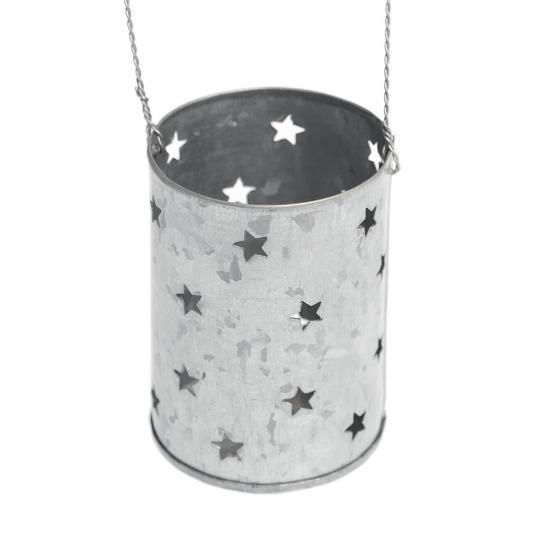 Zinc Stars Tealight Holder