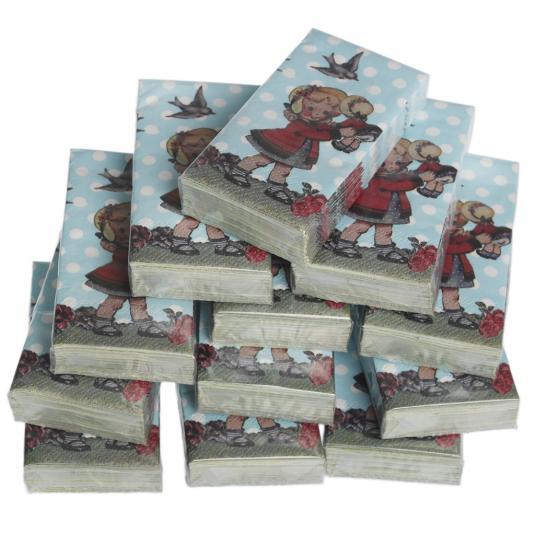 Pack Of 12 Dolly Girl Tissues