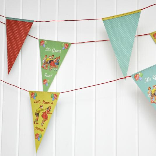 Paper Bunting Vintage Party