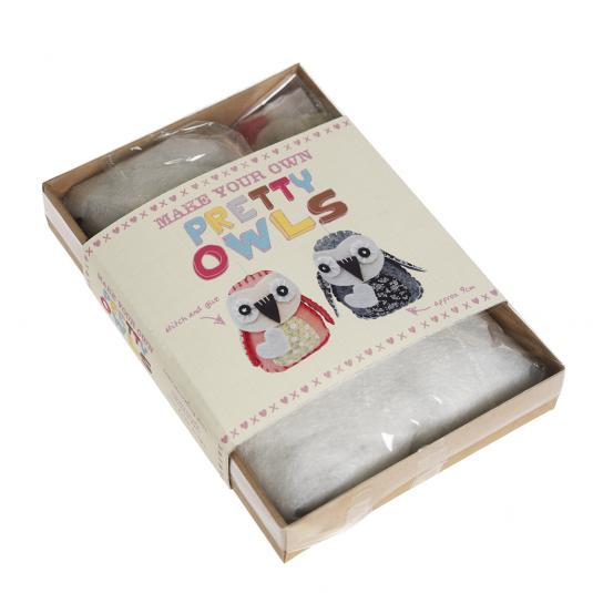 Make Your Own Felt Pretty Owls Craft Kit