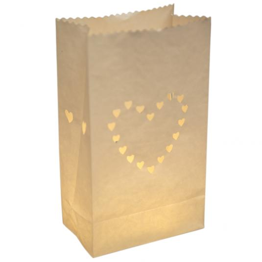 Pack Of 10 Heart Paper Lanterns
